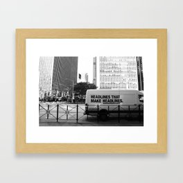 New York Post Truck, Manhattan Framed Art Print