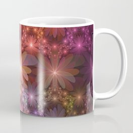 Bed Of Flowers Abstract, Fractal Art Coffee Mug