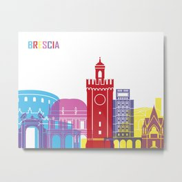 Brescia skyline pop Metal Print
