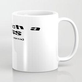 Snatch A Kiss Black Text Coffee Mug