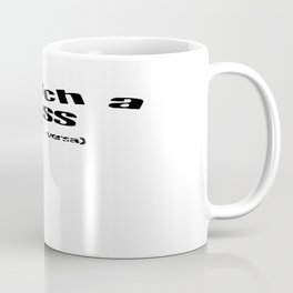 Snatch A Kiss Black Text Coffee Mug