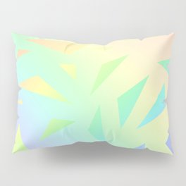 Pastel Gradient Design with Pastel Ombre Triangles! Pillow Sham