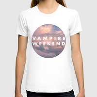 vampire weekend T-shirts featuring Vampire Weekend clouds logo by Elianne