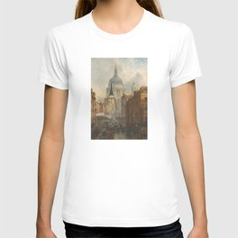 London skyline, Vintage view of St Paul's Cathedral Victorian era T-shirt
