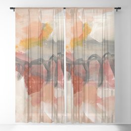 abstract painting XIII Sheer Curtain