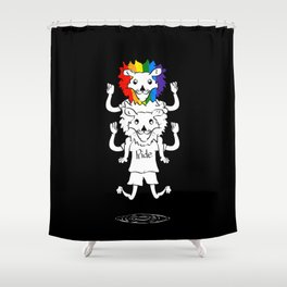 Gay Pride Lions Shower Curtain
