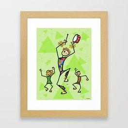 Carnival harlequin Framed Art Print