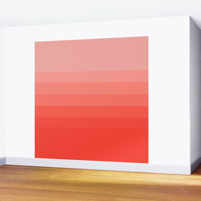 Living Coral Light to Bright Gradient Wall Mural