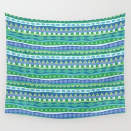 Stripey-Oceania Colors Wall Tapestry