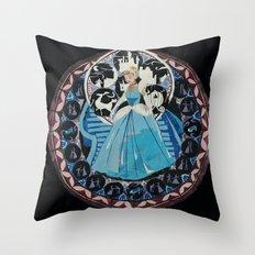 Paper fairytale window Throw Pillow