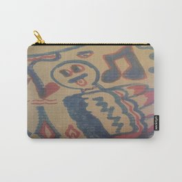 Blue Seventeen on Cardboard 88 Carry-All Pouch