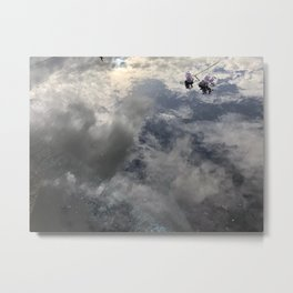 Flowers in a puddle Metal Print