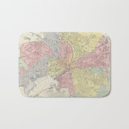 Vintage Map of Providence Rhode Island (1899) Bath Mat