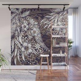 Polynesian Tribal Tapa Threads Wall Mural