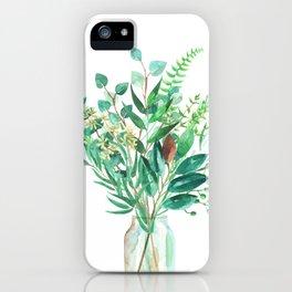 greenery in the jar iPhone Case