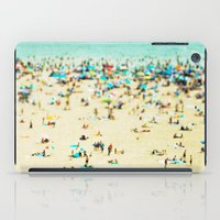 modern iPad Cases featuring Coney Island Beach by Mina Teslaru