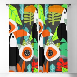 Tropical vibe with toucans Blackout Curtain