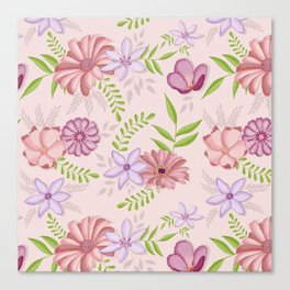 Flowers dancing around Canvas Print