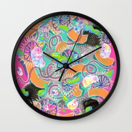 Alien Organism 8 Wall Clock