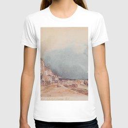 The Landing Site In Stein An Der Donau 1844 by Rudolf von Alt | Reproduction T-shirt