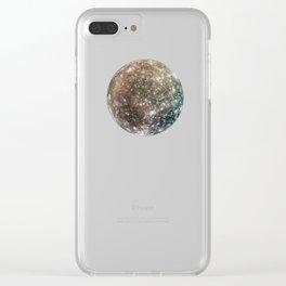 Callisto, Jupiter's moon Clear iPhone Case