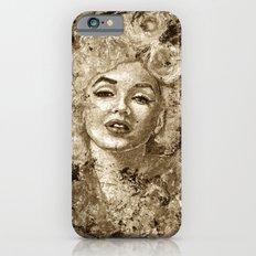 blonde bombshell - sepia version iPhone 6s Slim Case