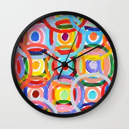 Ornamental Polka Daubs Wall Clock