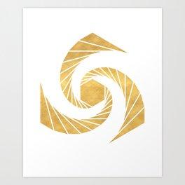 GOLDEN MEAN SACRED GEOMETRIC CIRCLE Art Print