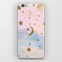 Pastel Starry Sky Moon Dream #1 #decor #art #society6 iPhone Skin