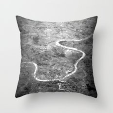 Rivers of India Throw Pillow