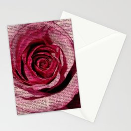 Paper Roses Stationery Cards