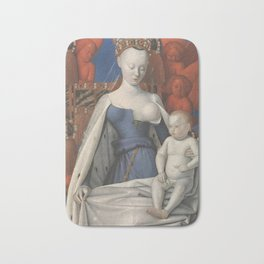 Madonna And Child By Jean Fouquet 1452 Bath Mat