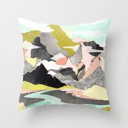 Summer River Throw Pillow