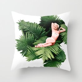 Pin-up Loves Nature - Marilyn 2 Throw Pillow