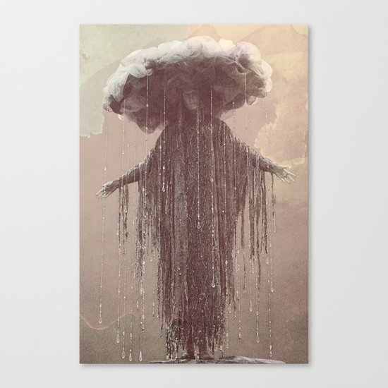 storm lady Canvas Print