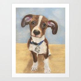Cute Terrier Mix Art Print