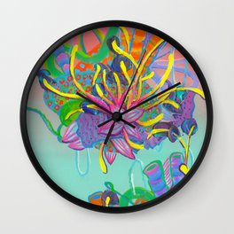Alien Organisms 17 Wall Clock