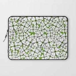 Line art - Clover : Green Laptop Sleeve