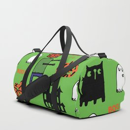 Cute Frankenstein and friends green #halloween Duffle Bag