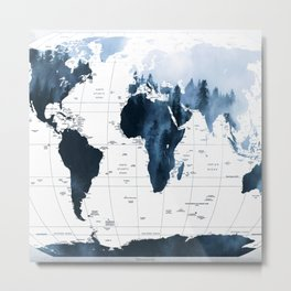 ALLOVER THE WORLD-Woods fog map Metal Print