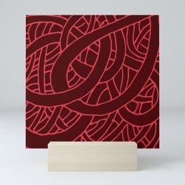 Microcosm in Red Mini Art Print