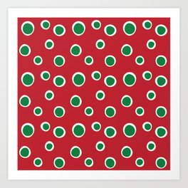 Christmas Dots Art Print