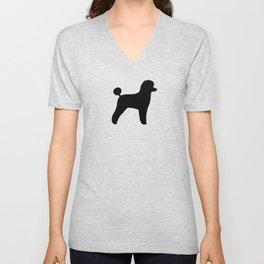 Black Toy Poodle Silhouette Unisex V-Neck