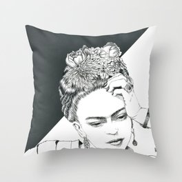 Frida II Throw Pillow