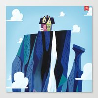 pixar Canvas Prints featuring A Pixar Adventure! by Create The Crown!