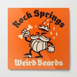 Weird Beards Metal Print