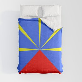 flag of reunion Comforters
