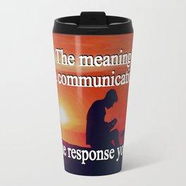 Meaning of a Communication Travel Mug