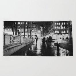 New York City Noir Beach Towel