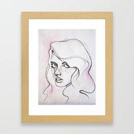 The Blushing Girl Framed Art Print